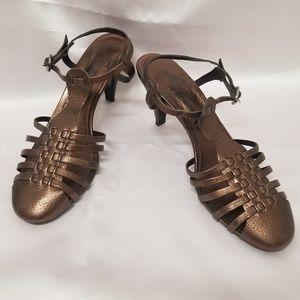VGUC Sigerson Morrison Bronze Metallic Heels (9)